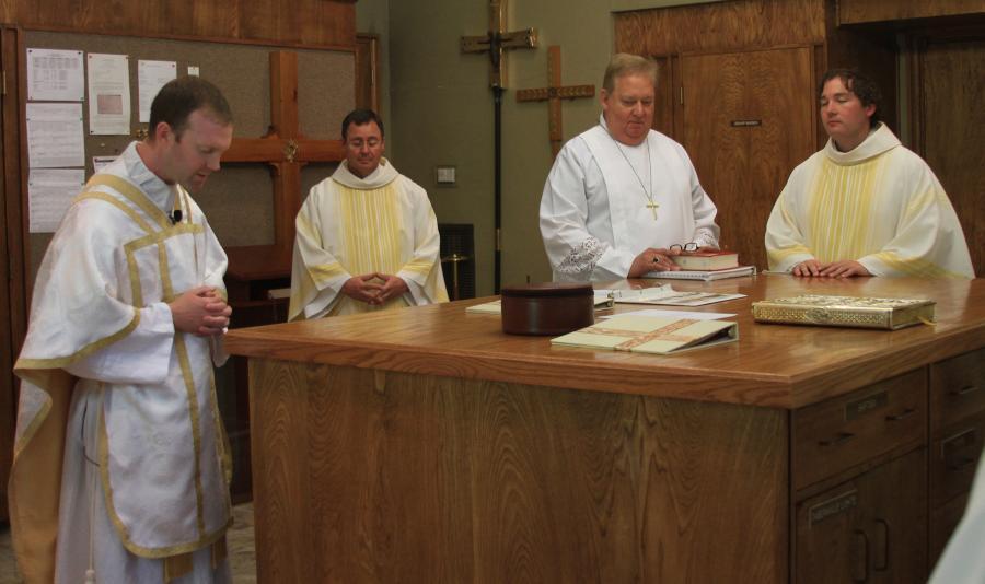 Preparing in the Sacristy