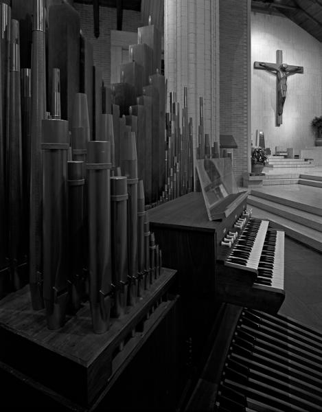 The Wickes Organ Installed
