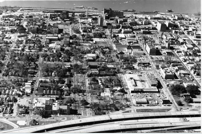 Downtown Baton Rouge in 1967