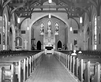 Early photo of the Church Interior
