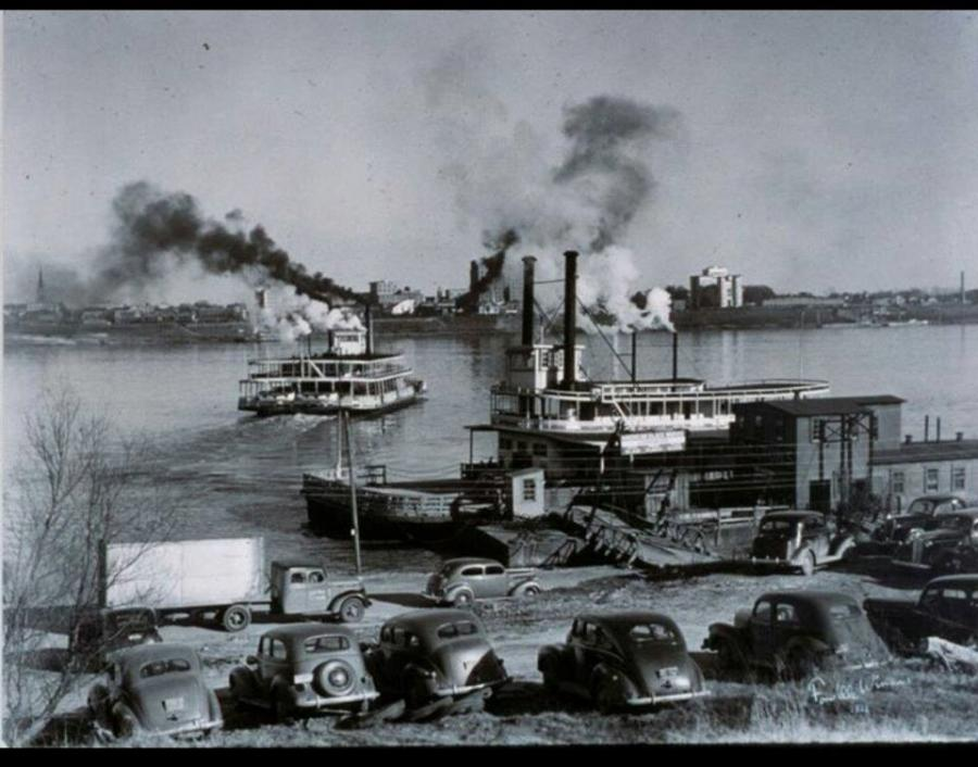 View from Port Allen circa 1930