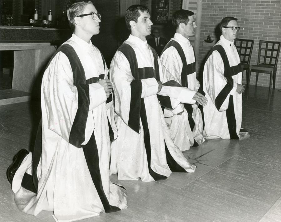 Priests Ordinations: K. Baker, D. Blanchard, G. Burns, and F. Uter - 1969