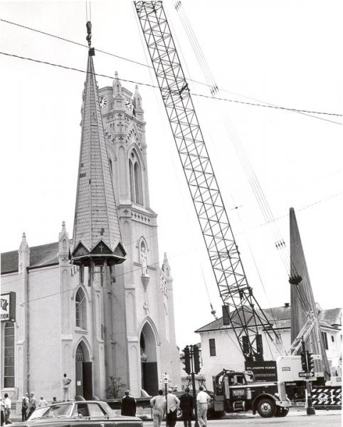 Installation of the Steeple