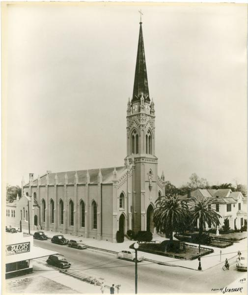 View of the exterior in 1948