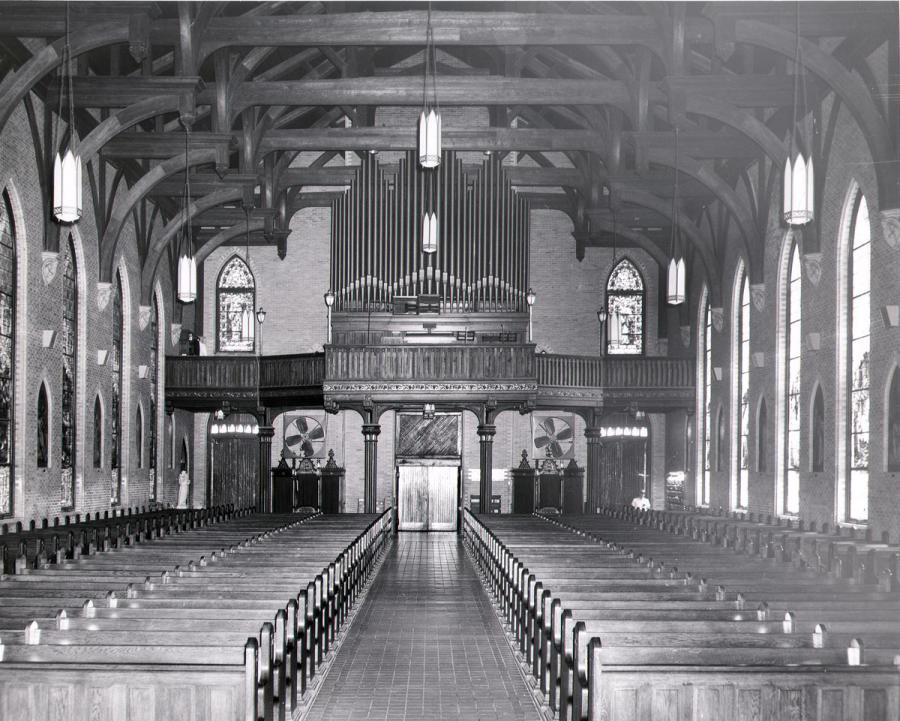 Interior before renovation, 1966